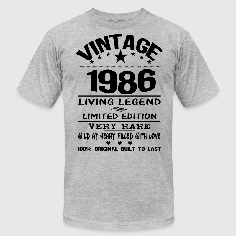VINTAGE 1986 T-Shirts - Men's T-Shirt by American Apparel