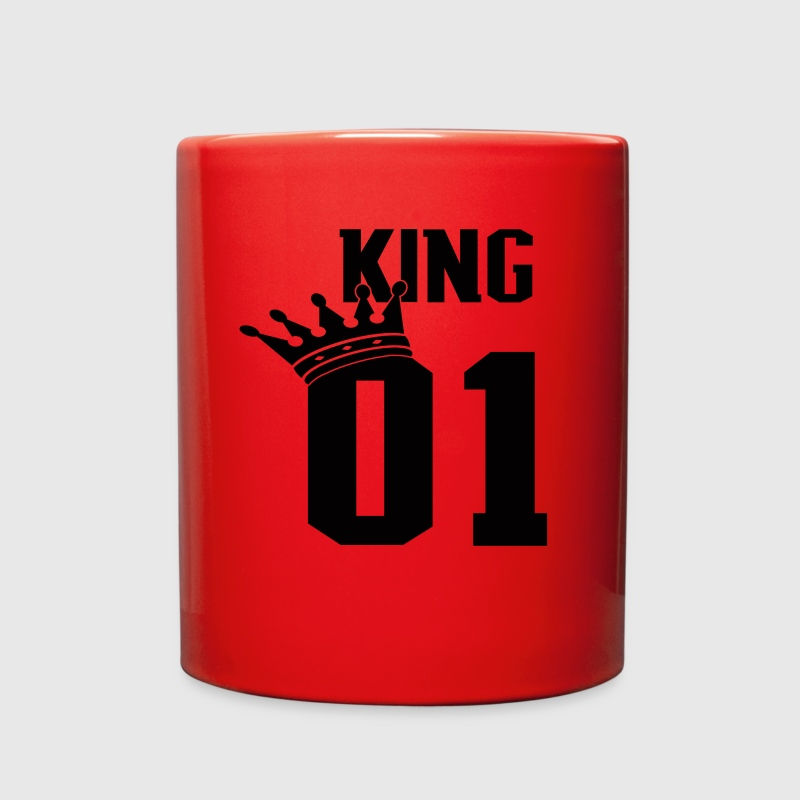KING 01  BLACK FONT PERFECT FOR COUPLE SHIRTS - Full Color Mug
