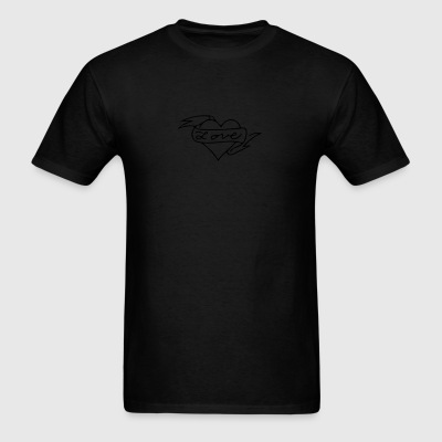 Heart Love Banner - Men's T-Shirt