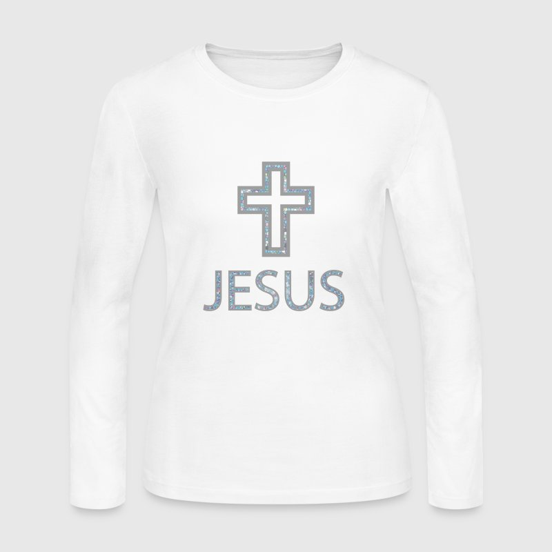 Jesus + Cross Long Sleeve Shirts - Women's Long Sleeve Jersey T-Shirt