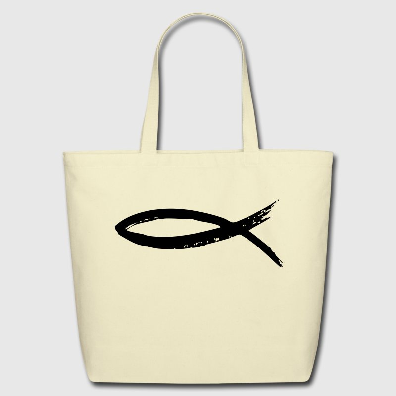 The fish - Christianity Bags & backpacks - Eco-Friendly Cotton Tote