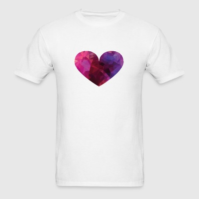 Polygon Heart Phone & Tablet Cases - Men's T-Shirt