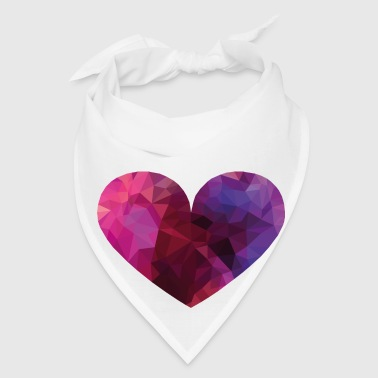 Polygon Heart Buttons - Bandana