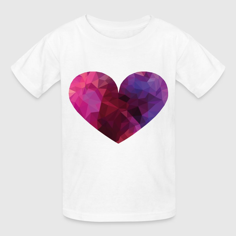 Polygon Heart Kids' Shirts - Kids' T-Shirt