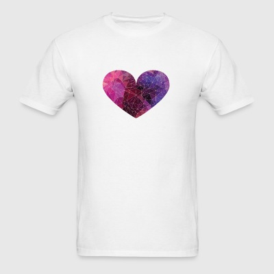 Polygon Heart Strokes Phone & Tablet Cases - Men's T-Shirt