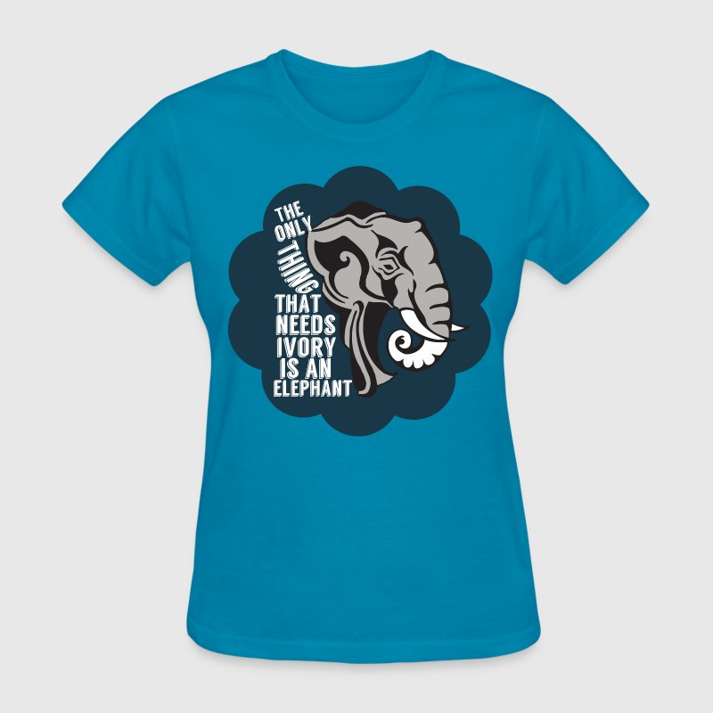 Save Elephants Animal Rights - Women's T-Shirt