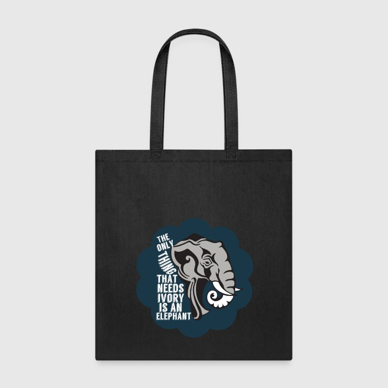 Save Elephants Not Ivory - Tote Bag