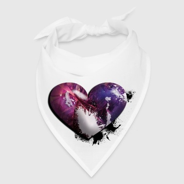 splatter heart Buttons - Bandana