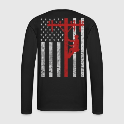 American Lineman - Men's Premium Long Sleeve T-Shirt