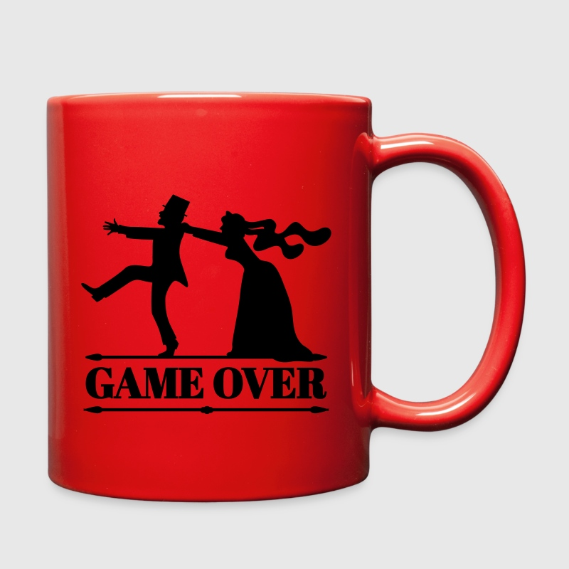 game over bride groom bachelor bachelorette party  Mugs & Drinkware - Full Color Mug