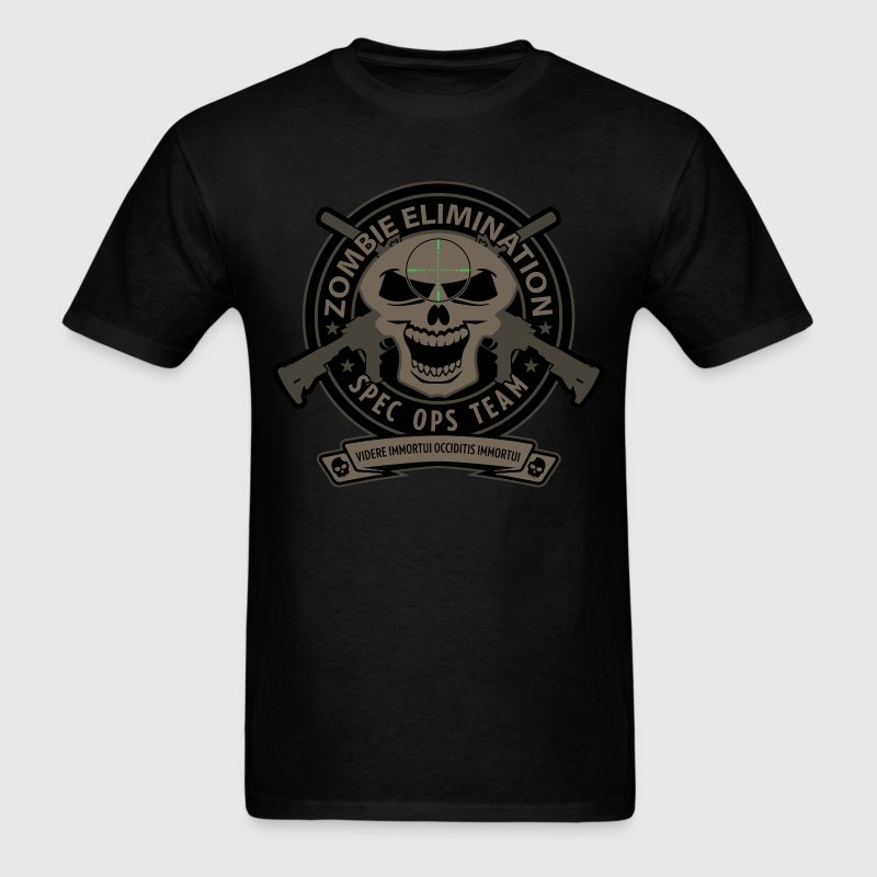Zombe Elimination Spec Ops Team T-Shirts - Men's T-Shirt
