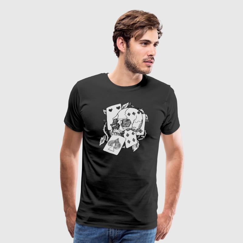 skull and card - Men's Premium T-Shirt