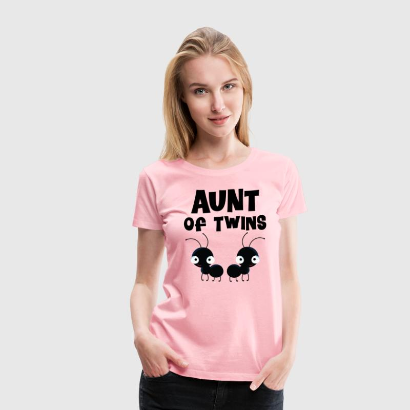 Aunt of Twins Cute Women's T-Shirts - Women's Premium T-Shirt