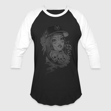 Girls & Skulls T-Shirt - Baseball T-Shirt