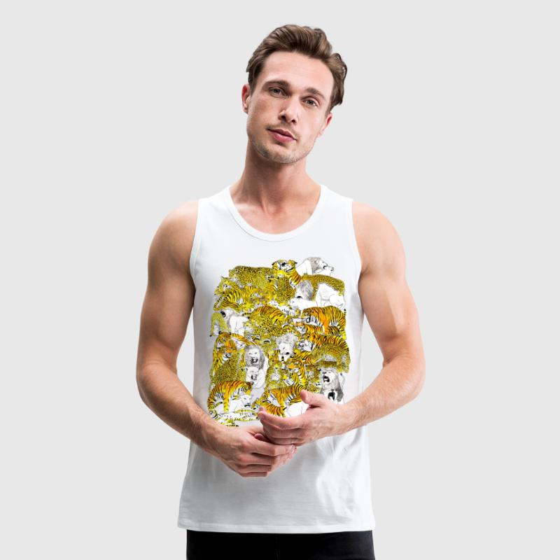 wild cat orgy - Men's Premium Tank