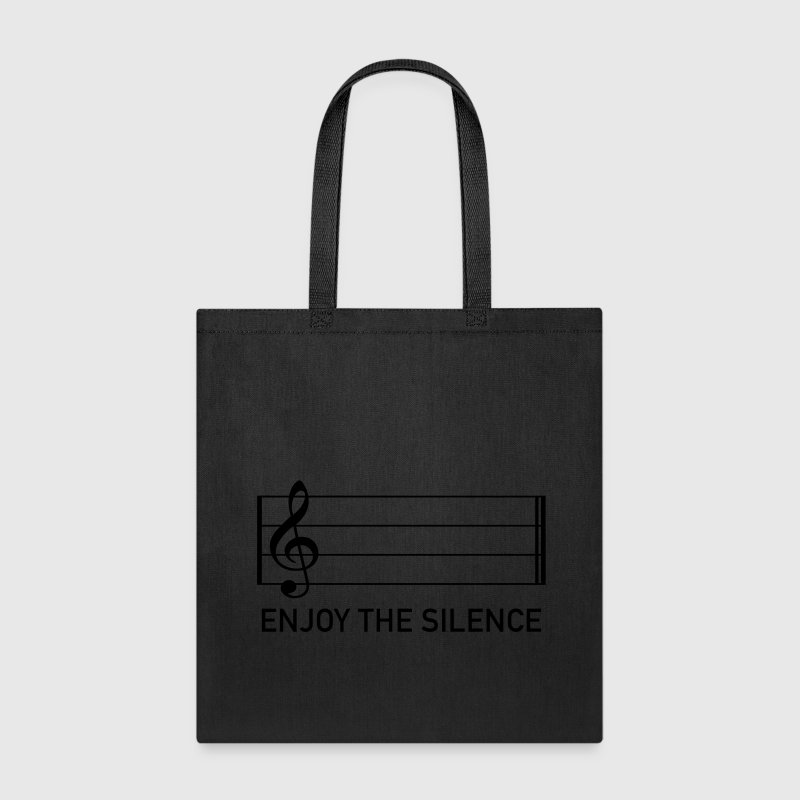 enjoy the silence music clef score musician Bags & backpacks - Tote Bag
