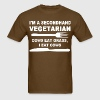 I'm a secondhand vegetarian cows eat grass i eat - Men's T-Shirt