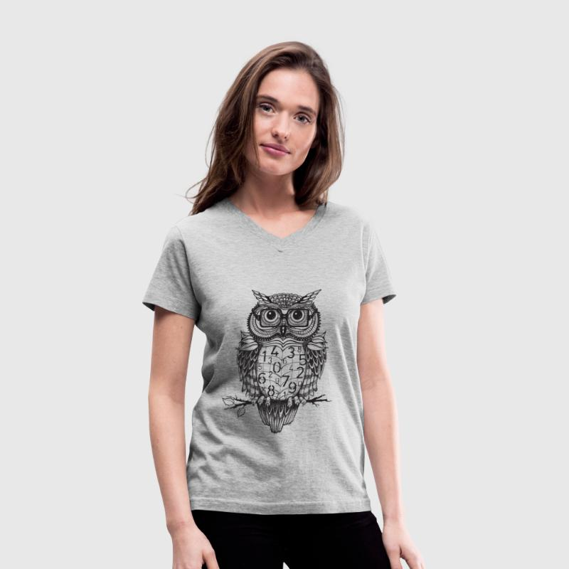 Owl sketch 1 - Women's V-Neck T-Shirt