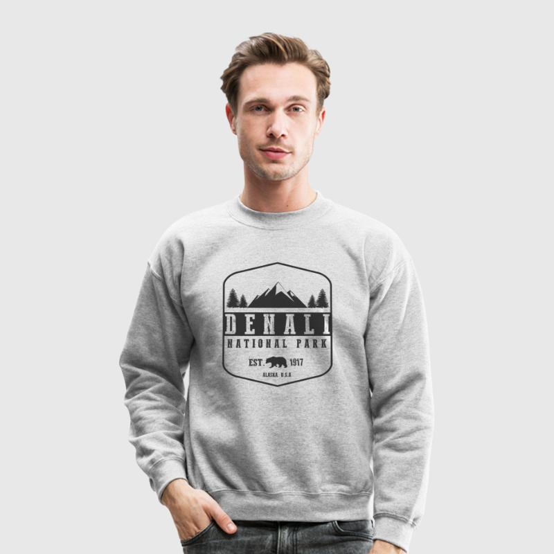 Denali National Park Long Sleeve Shirts - Crewneck Sweatshirt