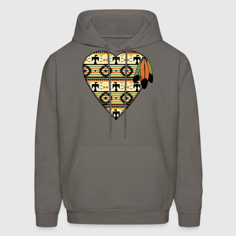 Native American Heart Hoodies - Men's Hoodie
