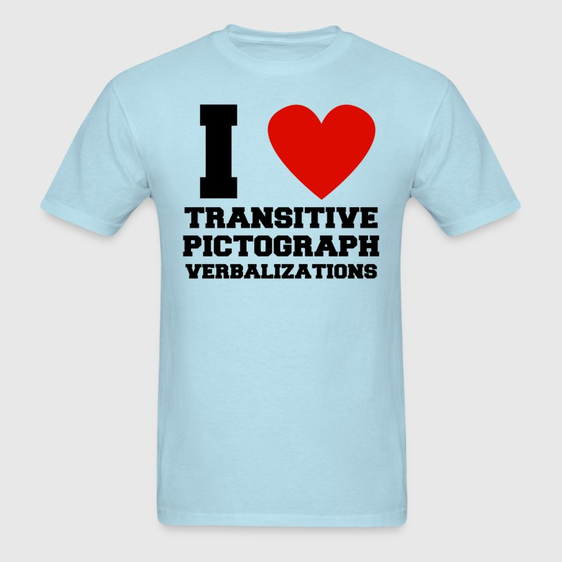 I heart transitive pictograph verbalizations - Men's T-Shirt