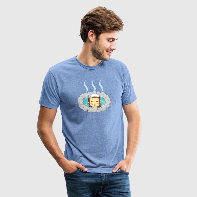Hot Spring Monkey T-Shirts - Unisex Tri-Blend T-Shirt by American Apparel