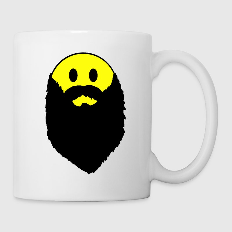 Hipster beard yellow smiley face Coffee Mug - Coffee/Tea Mug