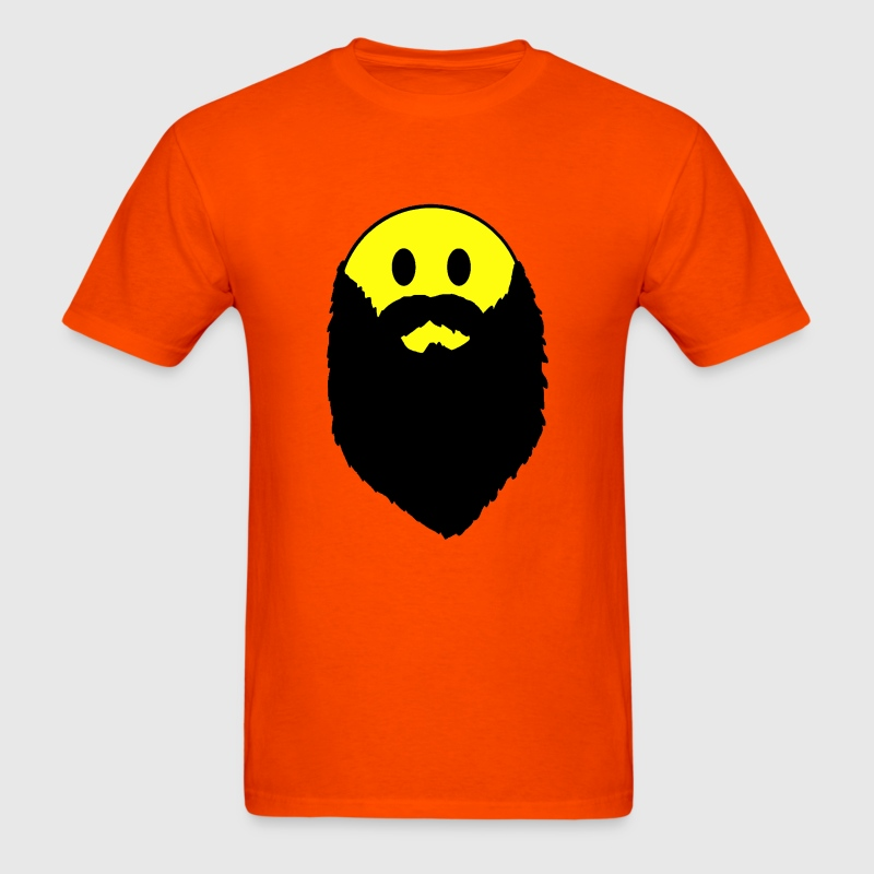 Hipster beard yellow smiley face Shirt - Men's T-Shirt