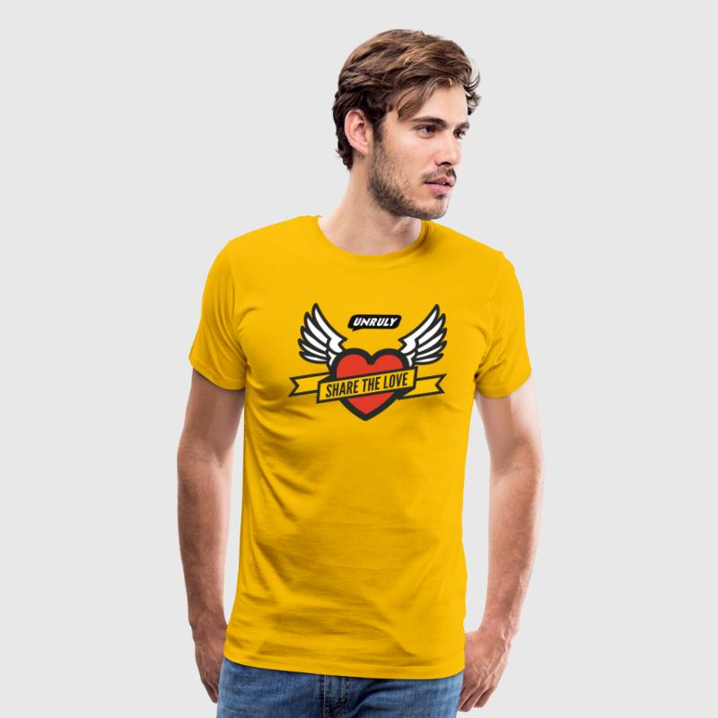 Share The Love Yellow Male - Men's Premium T-Shirt