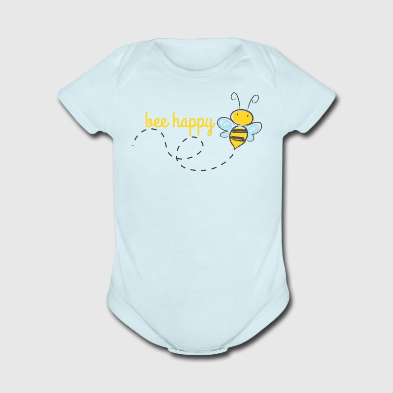 Bee Happy Baby   - Short Sleeve Baby Bodysuit