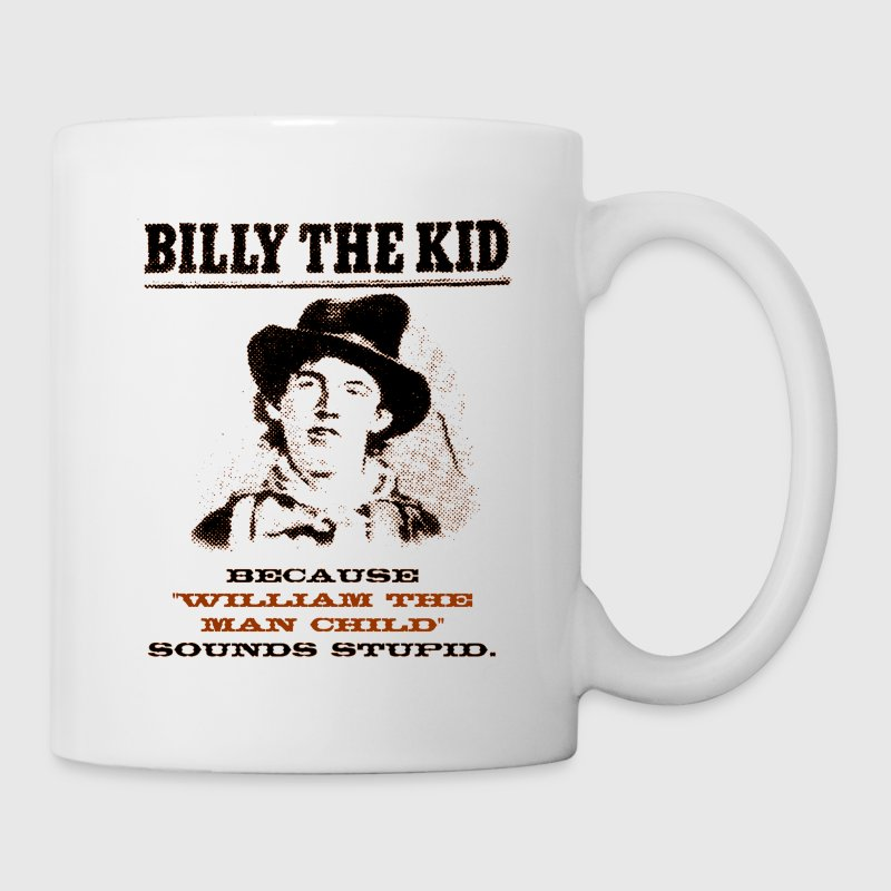 Funny Billy the Kid Wanted Poster Mugs & Drinkware - Coffee/Tea Mug