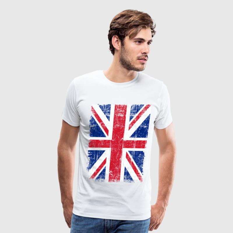Union Jack Flag Grunge T-Shirts - Men's Premium T-Shirt