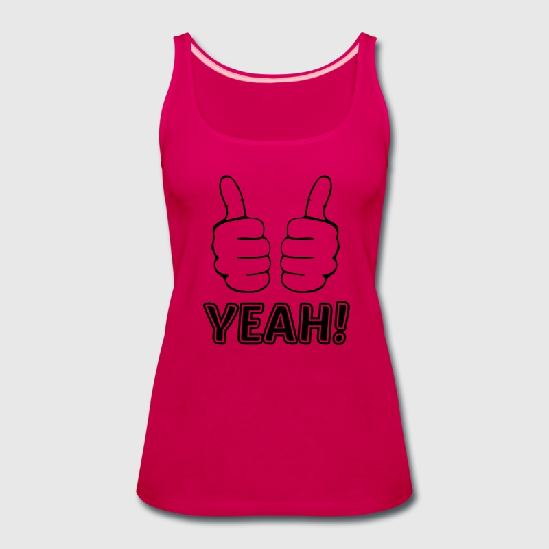 both thumbs up finger hand like yeah cheer triumph Tanks - Women's Premium Tank Top