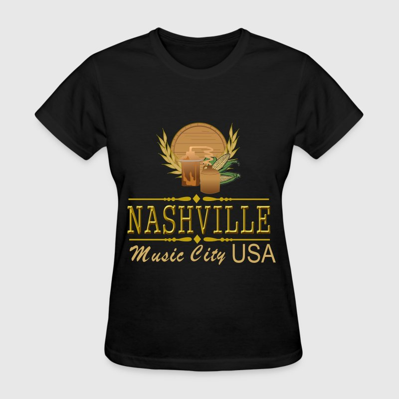 Nashville Music City Women's Dark T-Shirt - Women's T-Shirt