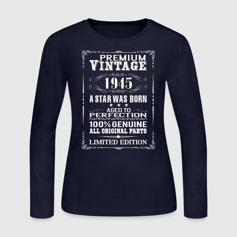 PREMIUM VINTAGE 1945 Long Sleeve Shirts - Women's Long Sleeve Jersey T-Shirt