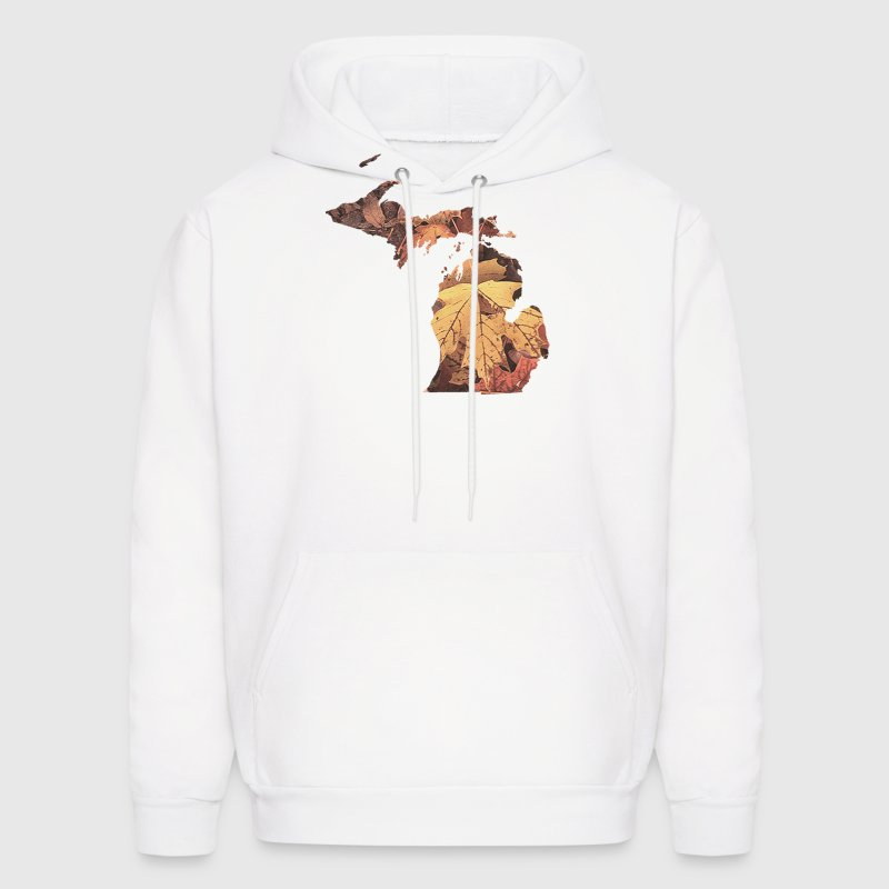 Michigan Autumn Fall Leaves Hoodies - Men's Hoodie