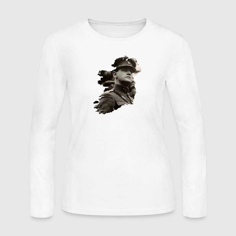 The Big Fella Michael Collins Irish Long Sleeve Shirts - Women's Long Sleeve Jersey T-Shirt