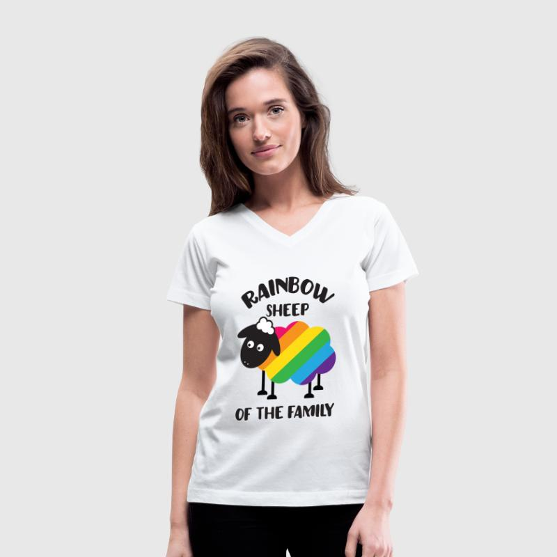 Rainbow Sheep Of The Family LGBT Pride Women's T-Shirts - Women's V-Neck T-Shirt