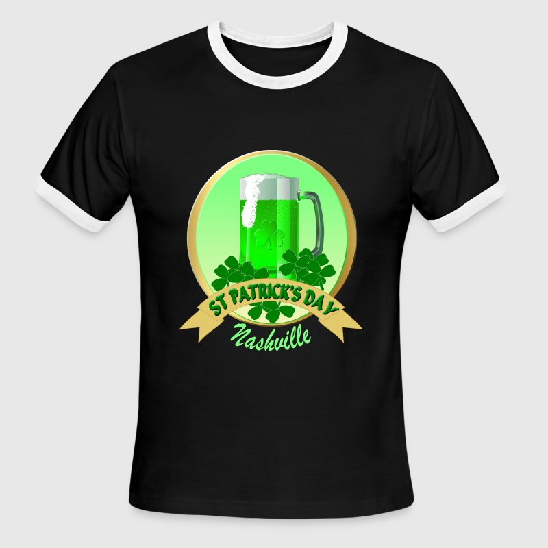 Nashville St Patrick's Day Men's Ringer T-Shirts - Men's Ringer T-Shirt