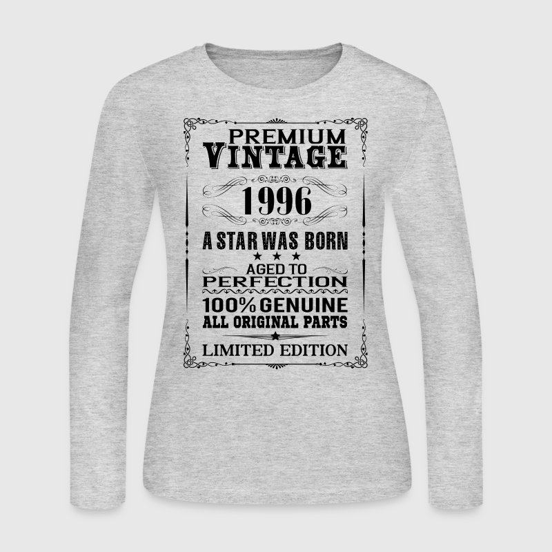 PREMIUM VINTAGE 1996 Long Sleeve Shirts - Women's Long Sleeve Jersey T-Shirt