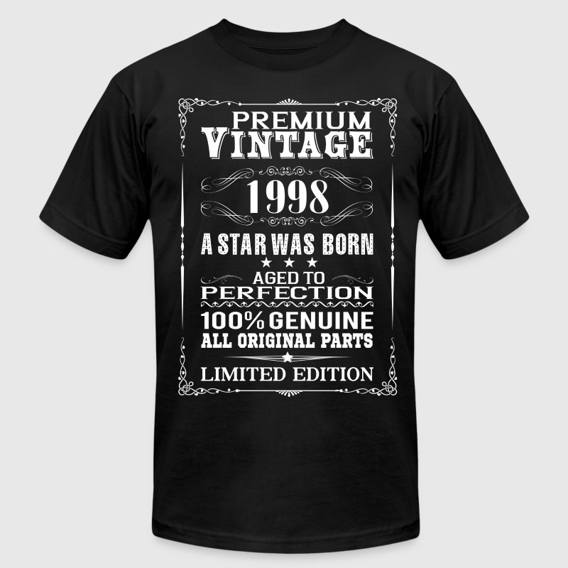 PREMIUM VINTAGE 1998 T-Shirts - Men's T-Shirt by American Apparel