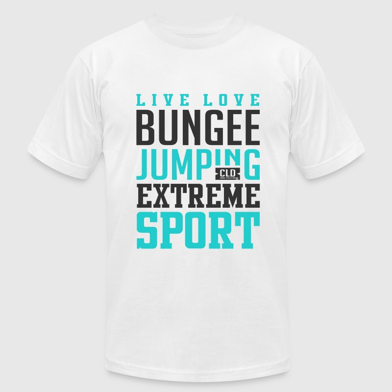 Bungee Jumping T-Shirt - Men's T-Shirt by American Apparel