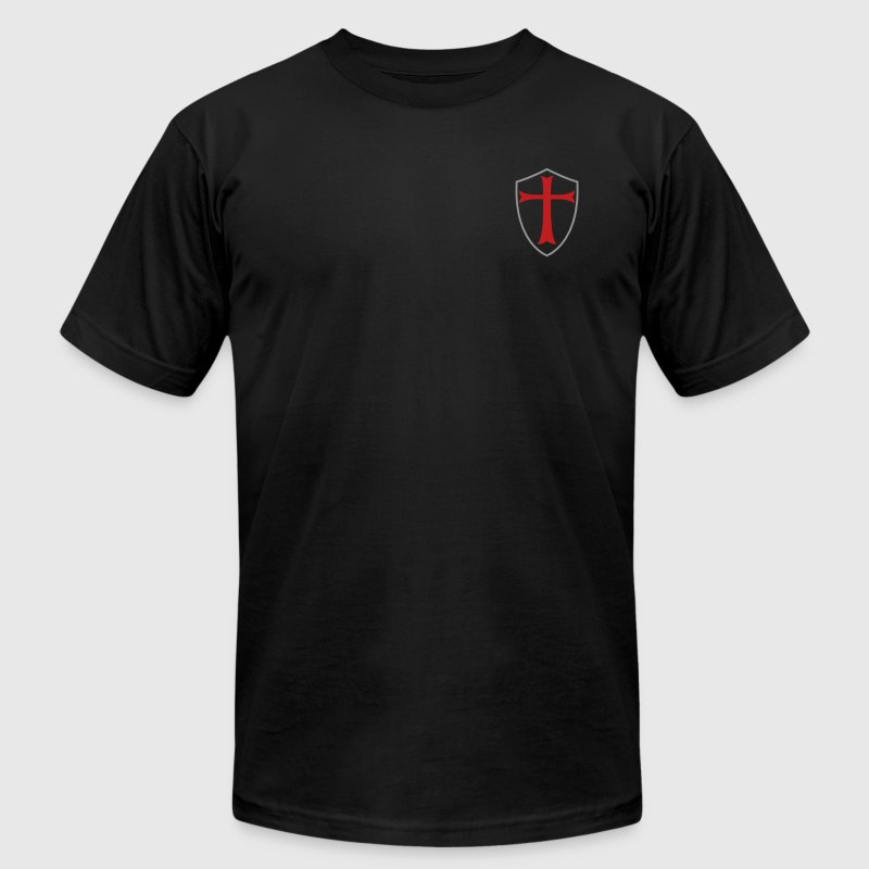 KNIGHTS TEMPLAR SHIELD - Men's T-Shirt by American Apparel