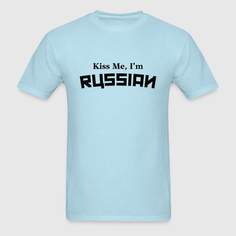 Kiss Me, I'm Russian - Men's T-Shirt
