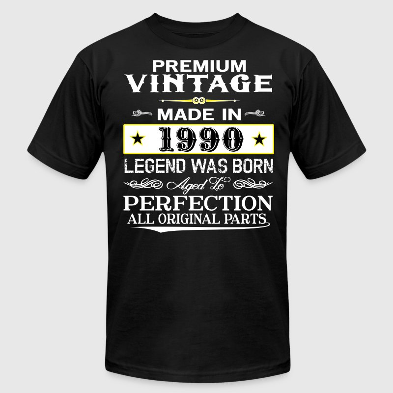 PREMIUM VINTAGE 1990 T-Shirts - Men's T-Shirt by American Apparel