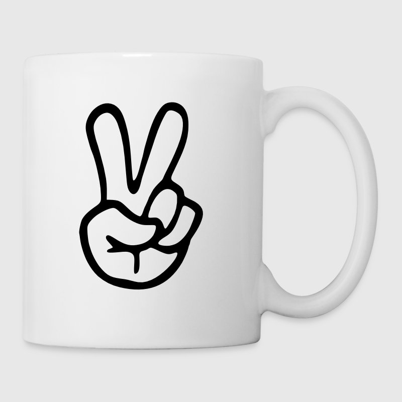 Peace Sign Hand Mugs & Drinkware - Coffee/Tea Mug