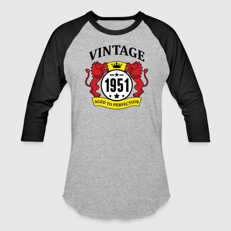Vintage 1951 Aged to Perfection T-Shirts - Baseball T-Shirt