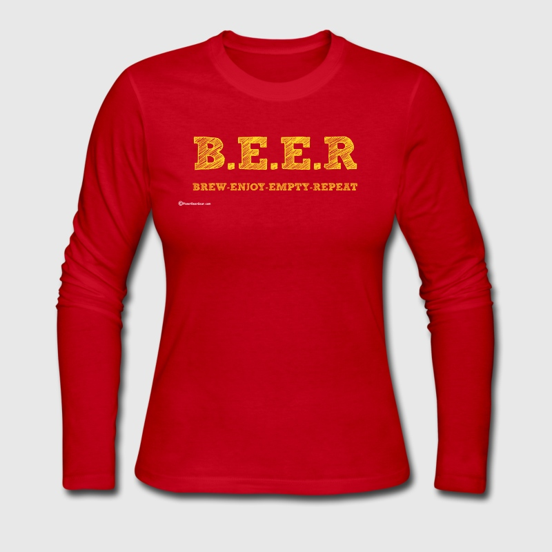 BEER Brew Enjoy Empty Repeat Women's Long Sleeve T - Women's Long Sleeve Jersey T-Shirt