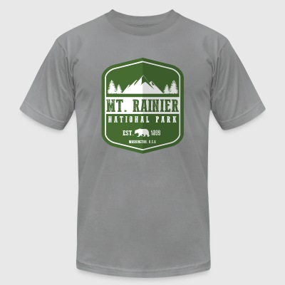 Mt. Rainier National Park Long Sleeve Shirts - Men's T-Shirt by American Apparel