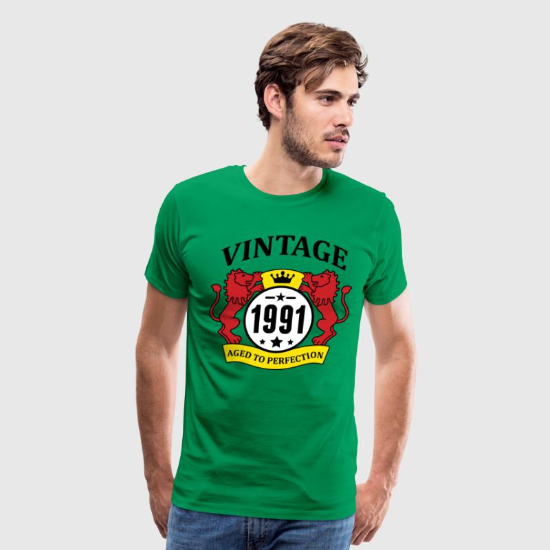 Vintage 1991 Aged to Perfection T-Shirts - Men's Premium T-Shirt